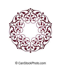 viola, ottomano, sopra, bianco, modelli