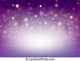 viola, raggi luminosi, fondo
