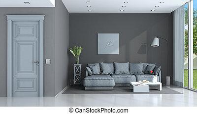 viola, salotto, grigio