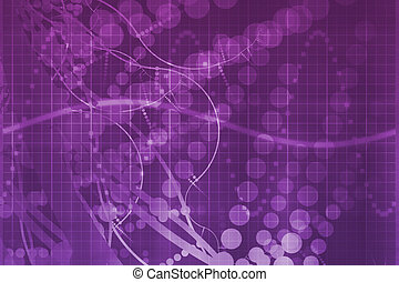 viola, scienza medica, futuristico, tecnologia, astratto