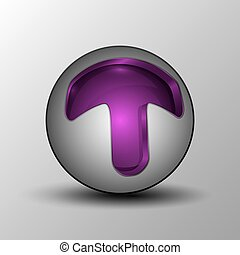 viola, sfera, cerchio, logotipo