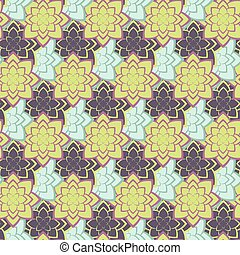 viola, succulento, verde, pattern., seamless