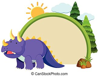 viola, triceratops, bordo, sagoma