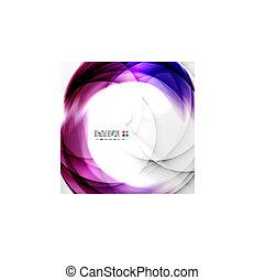 viola, turbine, disegno astratto
