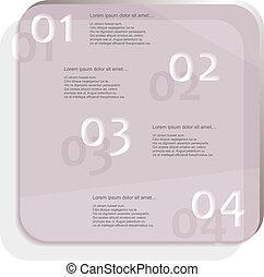 viola, vetro, infographic