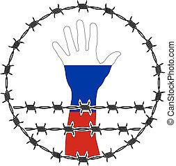 violación, de, derechos humanos, en, rusia
