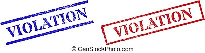 VIOLATION Grunge Scratched Stamp Watermarks with Rectangle Frame