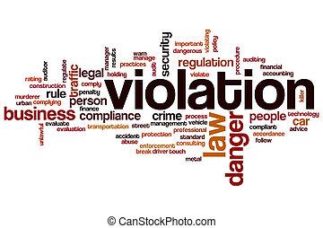 violation, mot, nuage