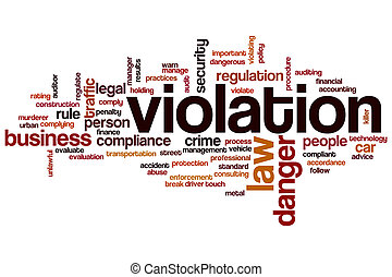 Violation word cloud concept