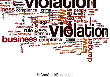 Violation word cloud