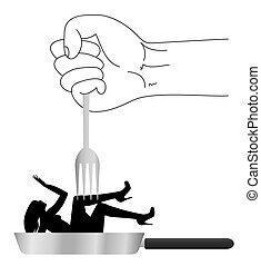 violence against women - symbolic illustration on violence...