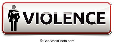 Violence - banner with woman sign