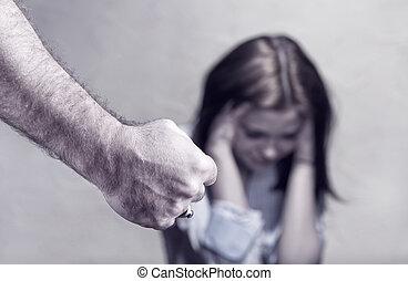 violence, contre, femmes