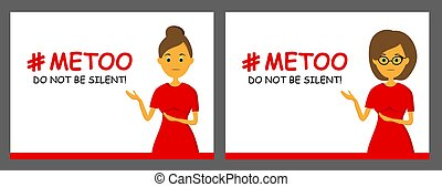 violence, nee, hashtag, sociaal, tegen, feminism.., humiliation., mij, women., banner., too., harassment., zeggen, movement.