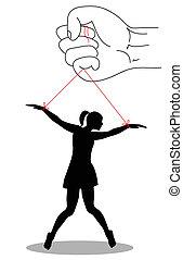 violence on women - symbolic illustration against violence...