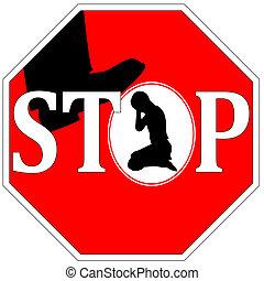 violence, stoppen, tegen, vrouwen