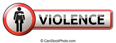 Violence - traffic sign with woman pictogram
