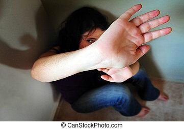 Violence victim - Crime scene concept photo of violence...