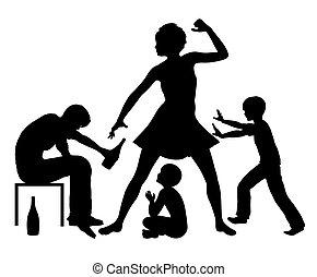 violencia, doméstico, alcohol