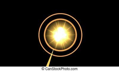 violent explosion & rays light