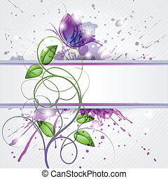 Violet - Abstract background with butterfly and copy space