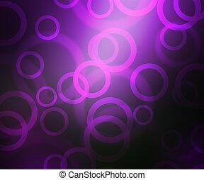 Violet Abstract Circles Bokeh