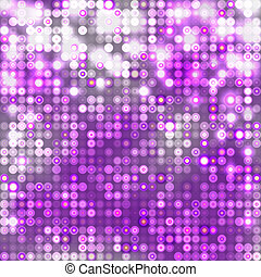 Violet abstract sparkling background with circles