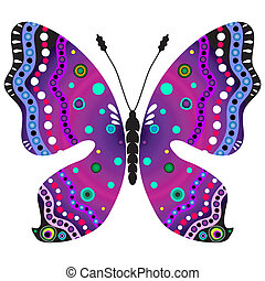 Violet and black butterfly