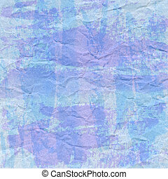 Violet and blue crumpled paper for background