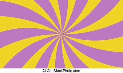 Violet and yellow sunburst radial background pattern...