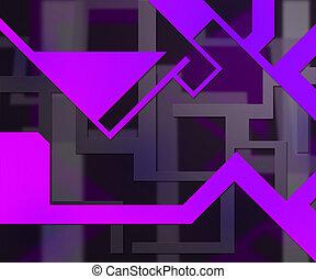 Violet Background Shapes