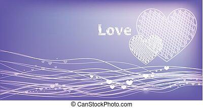 violet background. Valentine s Day.