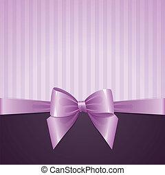 violet background with bow, vintage design, vector eps-10