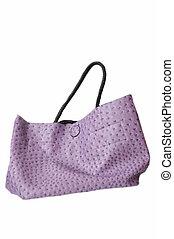 Violet bag - violet fashion bag on white background