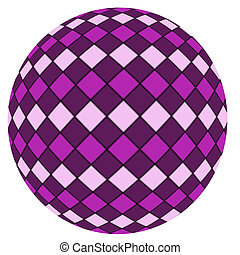Violet ball isolated on a white bac