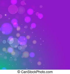 Violet blue bokeh gradient vector background.