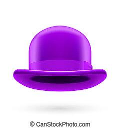 Violet bowler hat