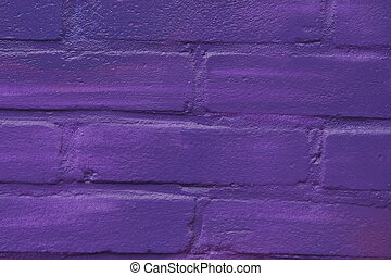 Violet brick wall as background