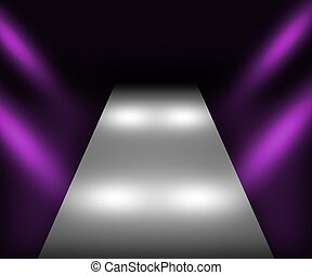 Violet Catwalk Background