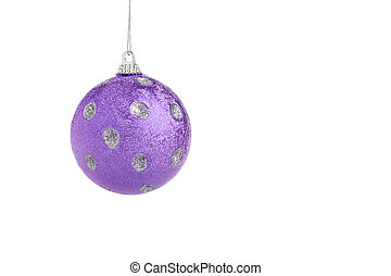 Violet Christmas ball - Single violet Christmas ball,...
