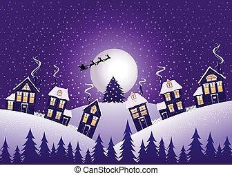 Violet Christmas night