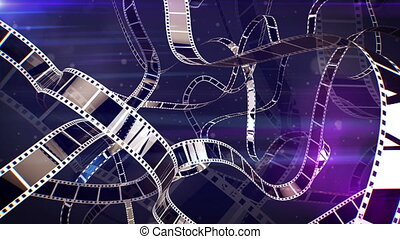 """Violet Cinematographic Film Rolls"" - ""An impressive 3d..."