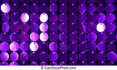 violet, club, moderne, réflecteur, scintillement, utilisé, arrière-plan., art, mur, projets, être, nuit, ajouté, boîte, cinétique, sequins, decoration., résumé, moving., transitions, étincelant, backgrounds.