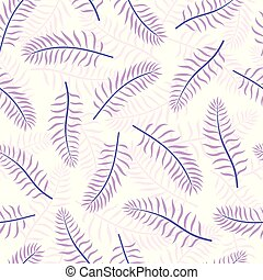 Violet coconut tropical palm leaves