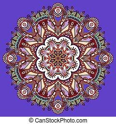 violet colour mandala