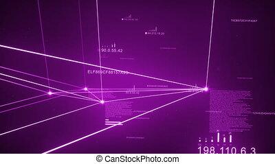 Violet Dark Plexus Network Loopable - Computer Network,...