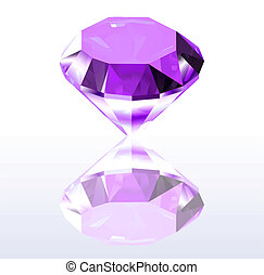 Violet diamond. Vector illustration
