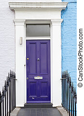 Violet door house
