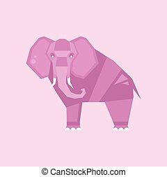 Elephant. Stylized Vector Illustration