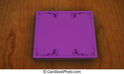 violet, enfants, livre